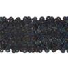 Sequin Stretch 5Row Hologram Black